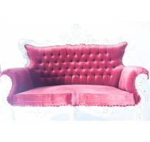 TRONE MIAMI VELOUR ROUGE