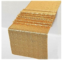 CHEMIN DE TABLE SEQUIN OR PAILLETTE
