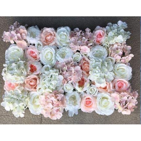 Mur De Fleur Blanc Et Rose Pale Maan I Events Location Et Vente