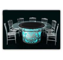 TABLE LUMINEUSE PLATEAU ROND