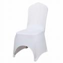 Housse de chaise blanche lycra