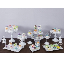 SUPPORT GATEAU-COCKTAIL BLANC  12 PCS