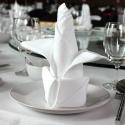 Serviette de table blanche X10