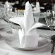 Serviette de Table Blanche