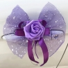 NOEUD DE  PAPILLON DECORATION VOITURE VIOLET X 5