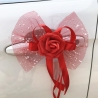 NOEUD DE  PAPILLON DECORATION VOITURE ROUGE X 5