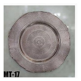 ASSIETTE DECORATIVE GOLDEN  X 6