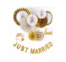 JUST MARRIED GOLD DECORATION