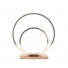 CENTRE DE TABLE DOUBLE CERCLE OR