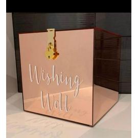 WISHING WELL BOX GOLD ROSE