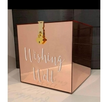 WISHING WELL BOX GOLD ROSE