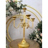 CHANDELIER METTALIQUE 60CM OR