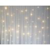LOT DE 10 RIDEAUX LED BLANC 3*3M OCCASION